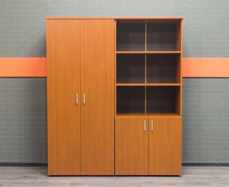 Комплект шкафов в офис, вишня, лдсп