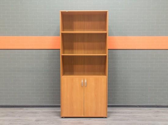 Стеллаж офисный полуоткрытый, вишня, ЛДСП