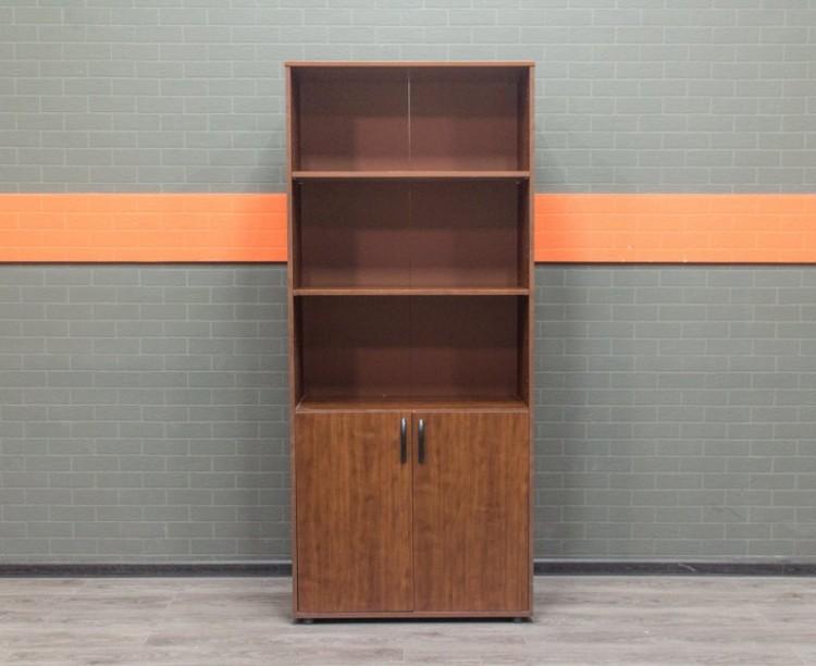 Шкаф для документов полуоткрытый, орех, ЛДСП
