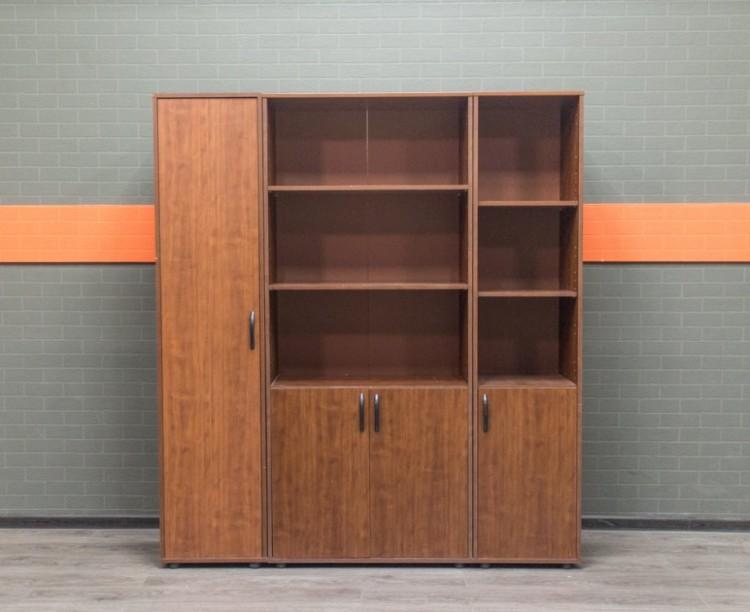 Комплект шкафов в офис, орех, ЛДСП