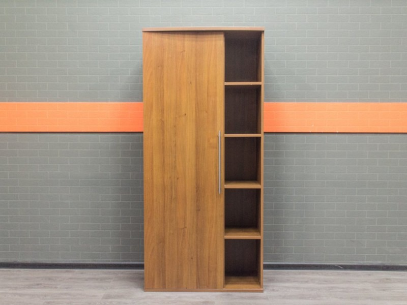 Шкаф полуоткрытый для документов, орех
