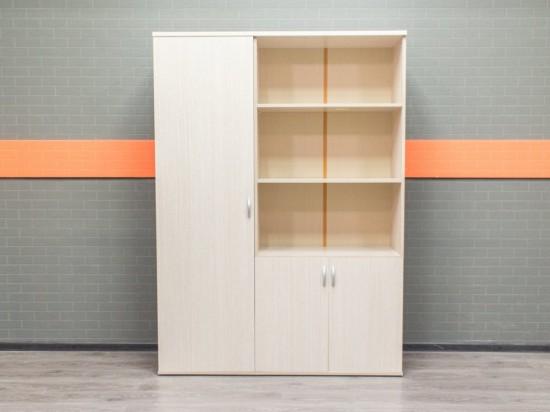 Комплект шкафов в офис, стеллаж и гардероб, дуб
