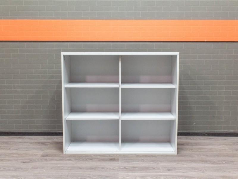 Офисная мебель бу. Стеллаж низкий для документов серый.