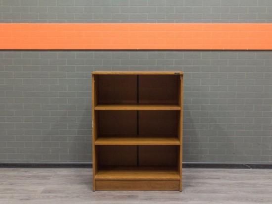 Офисная мебель бу Стеллаж низкий орех