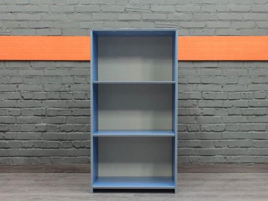 Офисная мебель бу. Стеллаж низкий, голубой