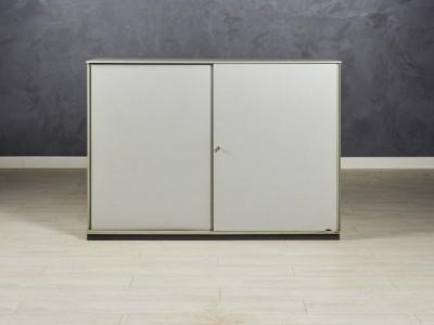 Шкаф офисный низкий Bene 1600х450х1140 серый/графит