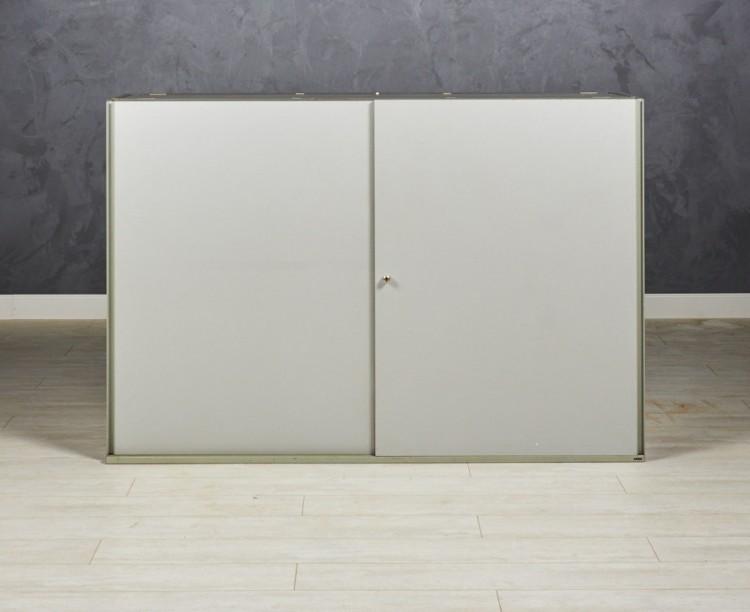 Шкаф низкий Bene 1600х450х1180 цвет серый/графит