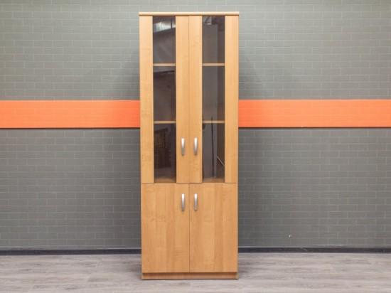 Шкаф со стеклянными вставками Офисная мебель бу ольха