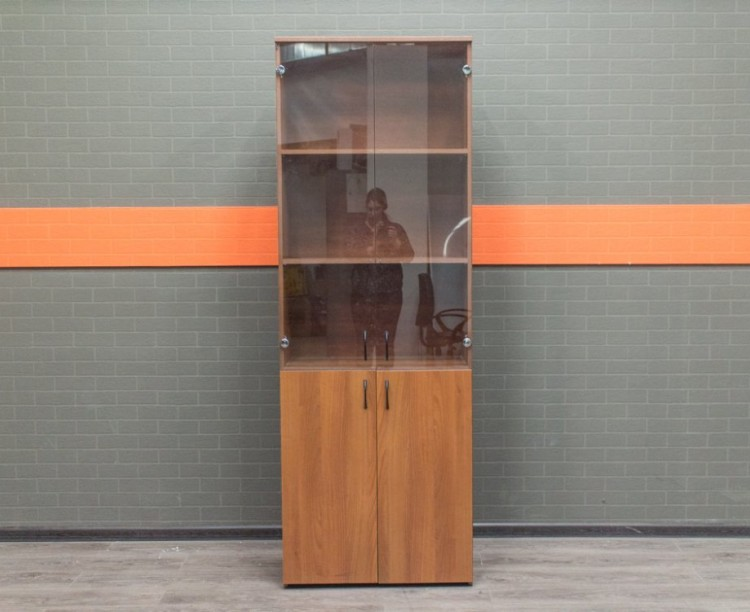 Шкаф для документов со стеклом, орех