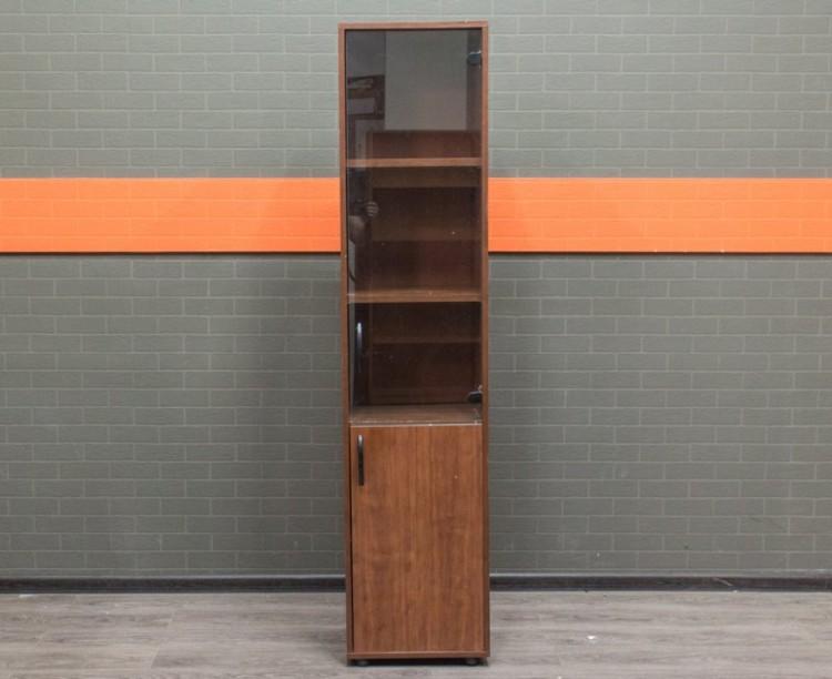 Шкаф узкий со стеклом, офисная мебель бу