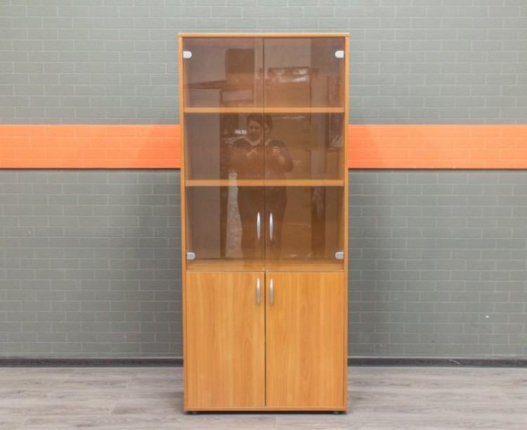 Шкаф со стеклом, вишня, офисная мебель бу