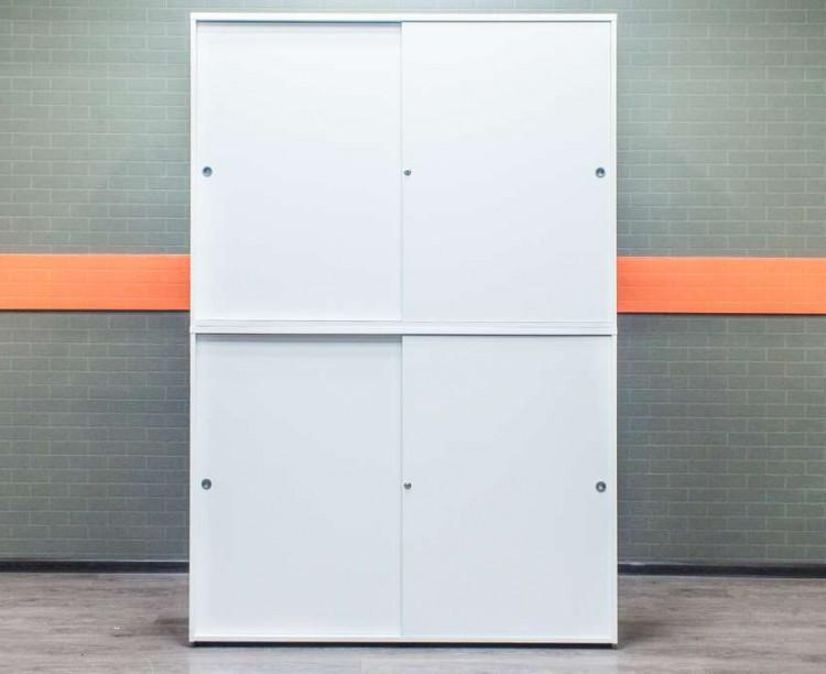 Шкаф для документов белый двухсекционный LAS Италия