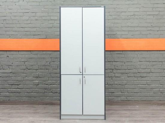 Шкаф для документов двухсекционный, серый
