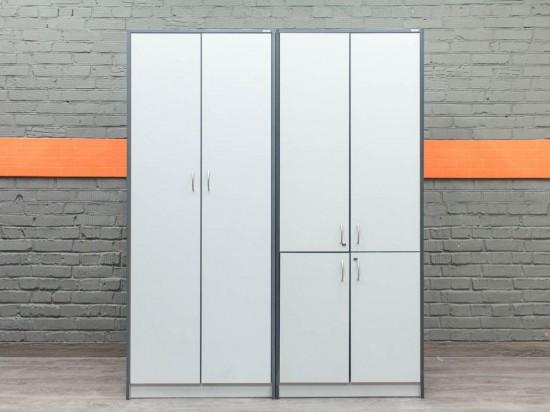 Комплект шкафов в офис, серый