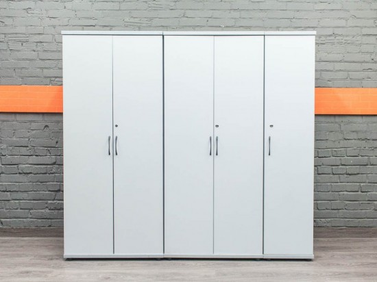 Офисный комплект шкафов, серый