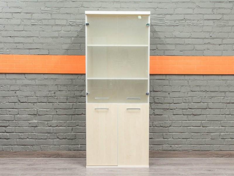 Шкаф для документов, со стеклом, клен