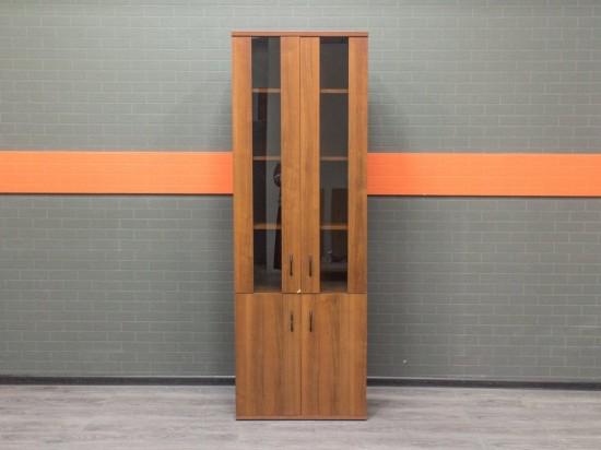Шкаф для документов со стеклом, орех Офисная мебель бу