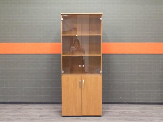 Шкаф со стеклом Офисная мебель бу ольха
