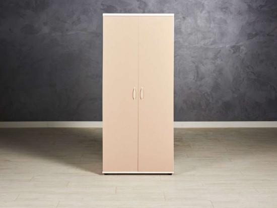 Шкаф для одежды новый, цвет капучино/белый