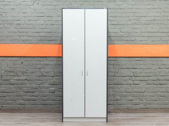 Шкаф для одежды, гардероб офисный, серый
