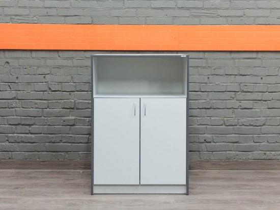 Низкий шкаф в офис Феликс, серый