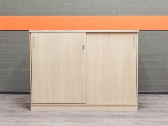 Шкаф для документов низкий, Офисная мебель бу, дуб