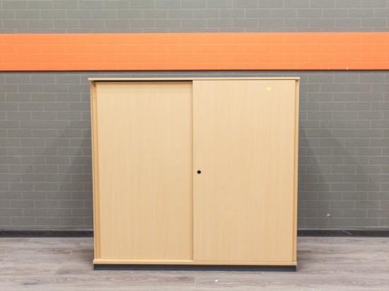 Шкаф офисный низкий Bene. Офисная мебель бу, без замка