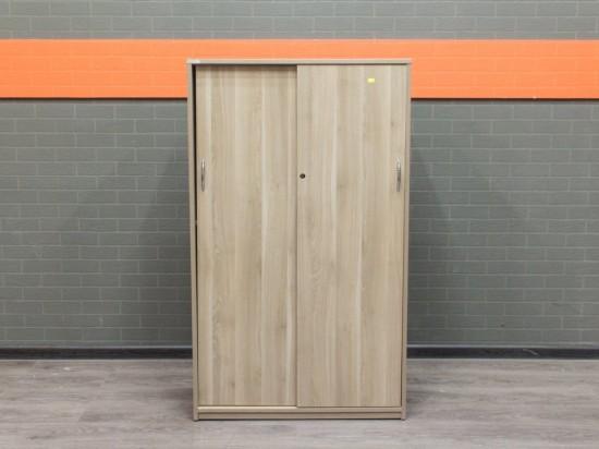 Офисный шкаф низкий, офисная мебель бу, ясень
