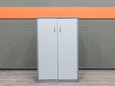 Низкий офисный шкаф, серый