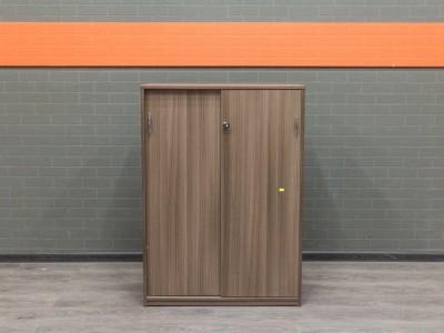 Шкаф низкий, офисная мебель бу, ясень