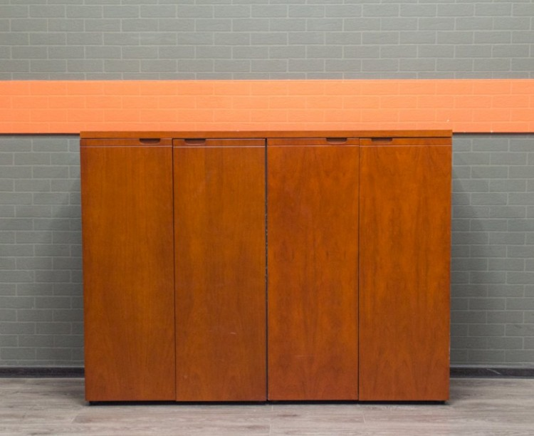 Шкаф для документов низкий, МДФ шпон лак