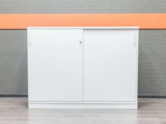 Шкаф офисный низкий Narbutas, белый, 2 секции