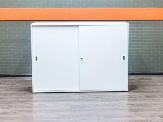 Шкаф для документов белый LAS купэ