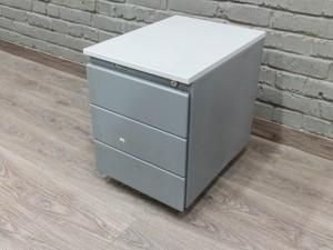 Тумба металлическая офисная, Офисная мебель бу. серая