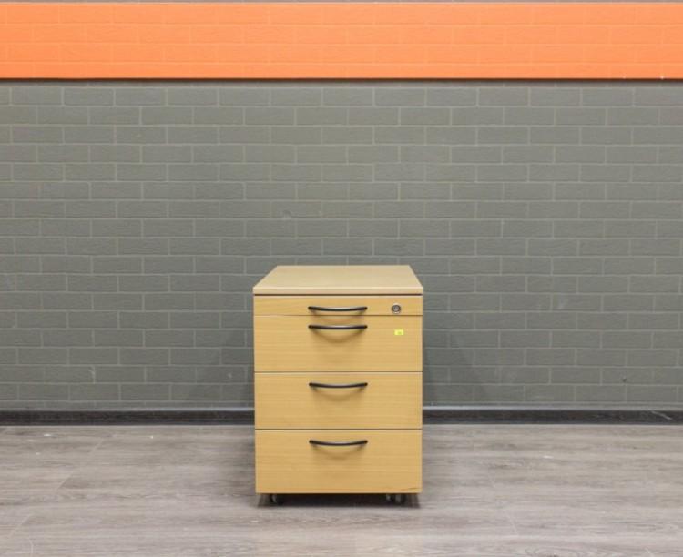 Офисная мебель бу. Тумба на колесах, 4 ящика