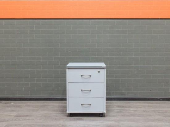 Тумба подкатная в офис, офисная мебель бу серая