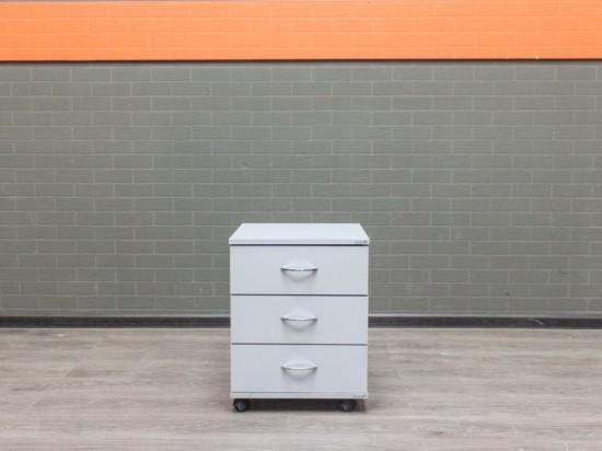 Тумба на колесах серая, офисная мебель б/у
