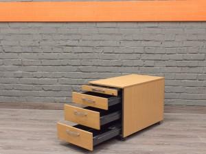 Офисная мебель бу. Steelcase тумба на колесах, 4 ящика