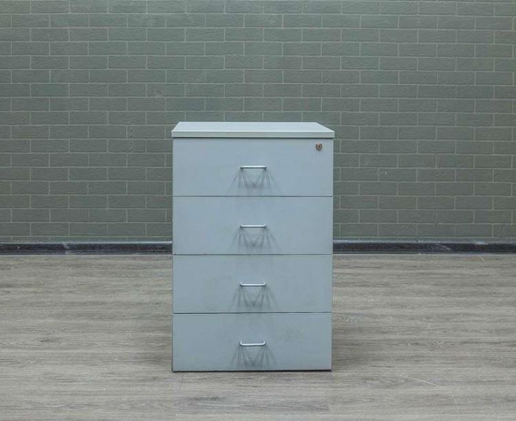 Тумба серая приставная 4 ящика