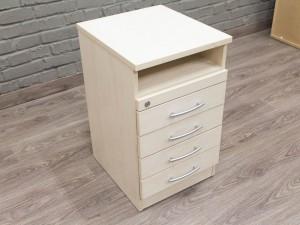 Офисная мебель бу. Приставная тумба для документов, клен