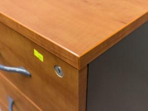 Офисная мебель бу. Тумба офисная приставная, яблоня и графит