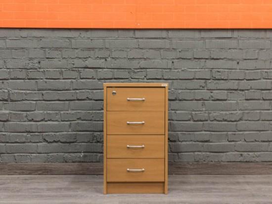 Офисная мебель бу. Тумба приставная в офис, вишня