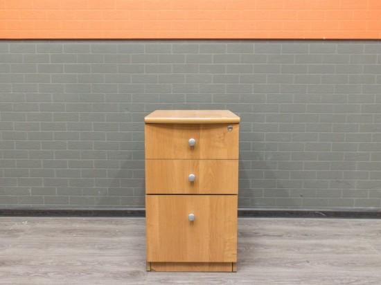 Тумба офисная приставная, ольха. Офисная мебель бу