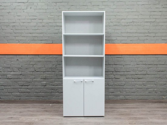 Стеллаж офисный, шкаф новый Style, серый