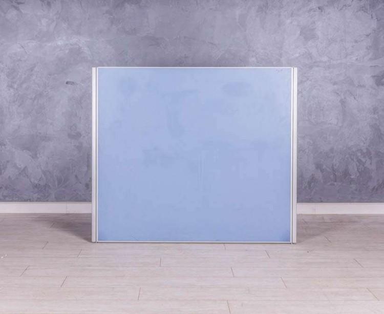 Перегородка офисная, цвет голубой
