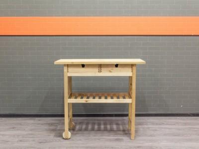 Верстак деревянный, столик на колесах