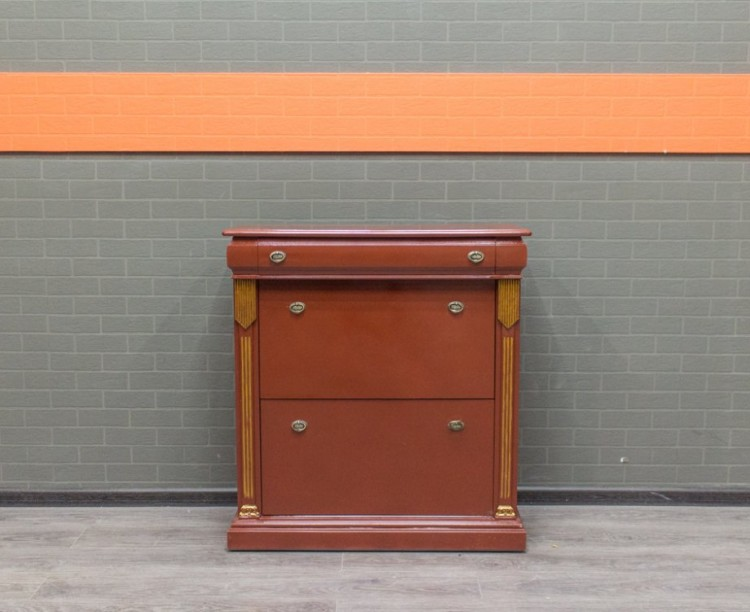 Обувной шкаф деревянный, ретро. Офисная мебель бу