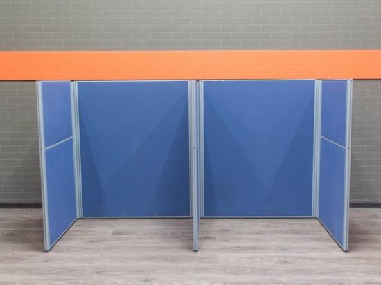 Перегородки модульные в офис, синие. Офисная мебель бу.