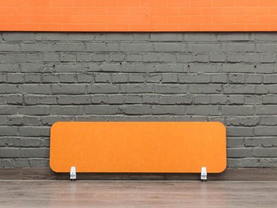 Экран для офисного стола, оранжевый
