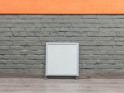 Экран настольный, квадратный